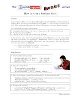 How to write a biz letter