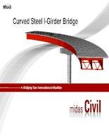 MIDAS steel composite curved bridgetutorial