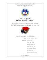 Tiểu luận triết học: Vận dụng quan điểm lịch sử - cụ thể vào quá trình cải cách giáo dục tại Việt Nam