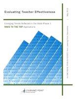 Evaluation Teacher Effectiveness