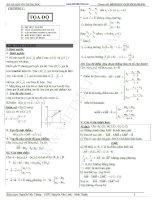 phương pháp tọa độ mặt phẳng cơ bản