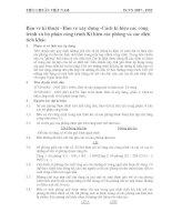 TIÊU CHUẨN VIỆT NAM BẢN VẼ KỸ THUẬT BẢN VẼ XÂY DỰNG CÁCH KÍ HIỆU CÁC CÔNG TRÌNH VÀ BỘ PHẬN CÔNG TRÌNH KÍ HIỆU CÁC PHÒNG VÀ CÁC DIỆN TÍCH KHÁC