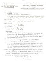 4 đề thi thử đại học môn toán có đáp án (6)