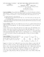 đề thi học sinh giỏi vật lí lớp 9 tỉnh hải dương (kèm đáp án) đề 17