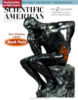 scientific american   -  1998 08  -  new thinking about back pain