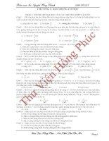 Tổng hợp dao động trong đề thi thử vào đại học