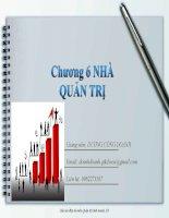Bài giảng Quản trị kinh doanh: Chương 6