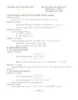 đề thi học kì môn toán lớp 10 tỉnh đồng tháp (đề 18)