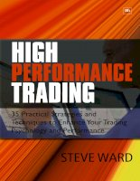 high performance trading - 35 practical strategies and techniques - ward 2009