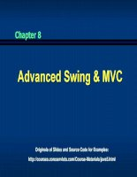 Chapter 8 Advanced Swing and MVC