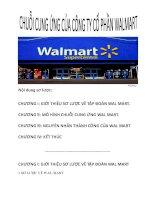 Tiểu luận: Chuỗi cung ứng của Công ty Cổ phần Walmart