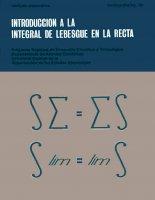introducción a la integral de lebesgue en la recta