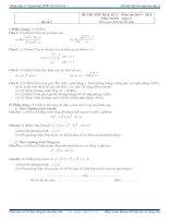 đề thi thử học kỳ II có đáp án chi tiết lớp 11