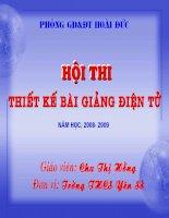 Giáo án dự thi bài giảng điện tử Việt Nam sau chiến tranh thế giới thứ nhất