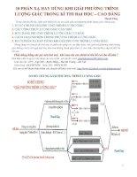 10 phản xạ hay sử dụng khi giải phương trình lượng giác