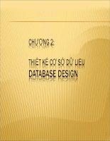 Chương 2 Thiết kế Cơ sở dữ liệu database design