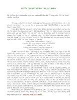 Tuyển tập 100 bài văn mẫu lớp 9 tham khảo