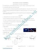 chủ đề 8 - lý thuyết phương pháp và bài tập cacbonhidrat