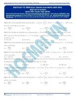 bài tập về bài toán về thời gian trong dao động điều hòa