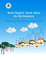 Teach english, teach about the environment a resource for teachers of adult english for speakers of other languages (ESOL)