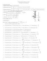 Chuyên đề dao động cơ học ôn thi đại học môn vật lý