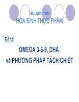 OMEGA 3-6-9, DHA  và PHƯƠNG PHÁP TÁCH CHIẾT - TIỂU LUẬN HÓA SINH THỰC PHẨM