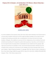 Fears of a clown a collection of short short stories john bruno