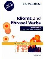 Idioms and phrasals INTERMEDIATE