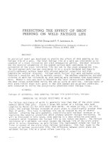 predicting the effect of shot peening on weld fatigue life