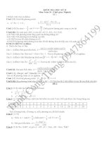 10 đề thi học kì 1 môn toán lớp 10