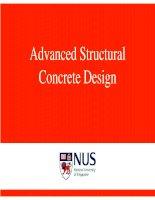 Thiết kế bê tông cốt thép - Advanced Structural  Concrete Design
