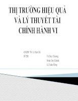 Tiểu luận: Thị trường hiệu quả và lý thuyết tài chính hành vi