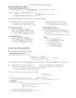tổng hợp ngữ pháp tiếng anh cơ bản nâng cao lớp 9 tham khảo