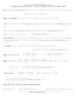 Bài tập về bất đẳng thức, cực trị Ôn thi vào 10