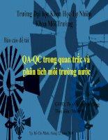 qa - qc trong quan trắc và phân tích môi trường nước