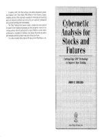 cybernetic analysis for stock and futures - ehlers 2004