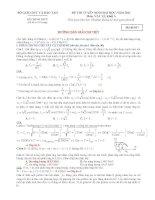 hướng dẫn giải chi tiết đề thi đại học vật lý  năm  2011