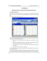 lập trình trên ứng dụng nền microsoft excel và lập trình trên microsoft excel