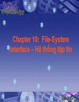 Chương 10 Hệ thống tập tin