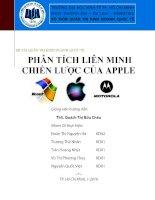 Báo cáo đề tài Quản trị kinh doanh quốc tế: Phân tích liên minh chiến lược của Apple