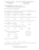 Đề thi tuyển sinh lớp 6 môn toán và tiếng việt
