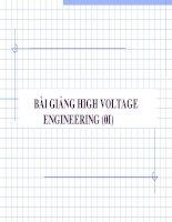 Bài giảng HIGH VOLTAGE - Chương 1 Cơ sở vật lý của hiện tượng phóng điện trong chất khí - Kỹ thuật điện cao áp