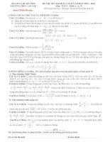 4 đề thi thử đại học môn toán có đáp án (2)