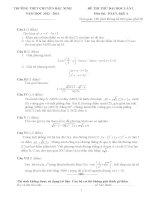 tuyển tập đề thi thử môn toán của trường chuyên
