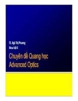 chuyên đề quang học chương 2 phân cực ánh sáng