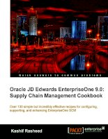 oracle jd edwards enterpriseone 9.0 [electronic resource] supply chain management cookbook over 130 simple but incredibly effective recipes for configuring, supporting, and enhancing enterpriseone scm