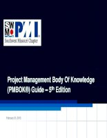 Compare PMBOK 5TH  and PMBOK4 edition