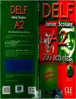 Sách ôn tập thi DELF Dành cho học sinh trung học - DELF Junior A2 FULL