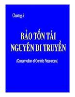 Bài giảng Bảo tồn đa dạng sinh học: Chương 5