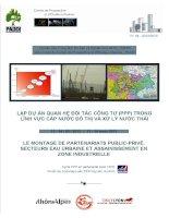 Lập dự án PPP trong lĩnh vực cấp nước đô thị và xử lý nước thải